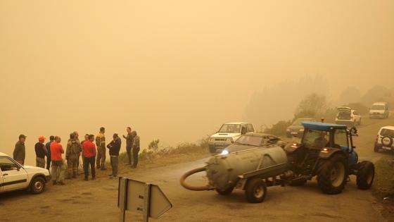 Incendio forestal en las proximidades de la Reserva Natural de los Ancares (Lugo)