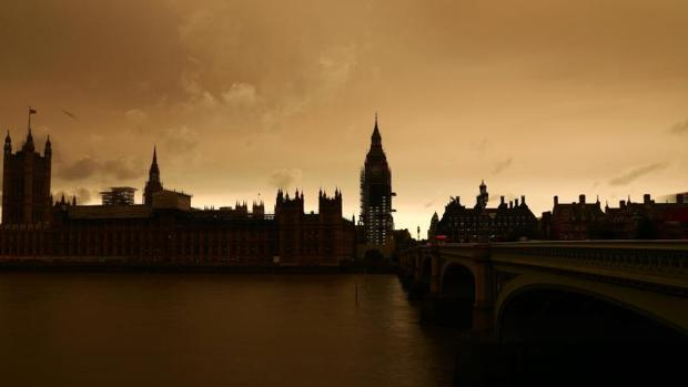 Así se veía el lunes el cielo de Londres
