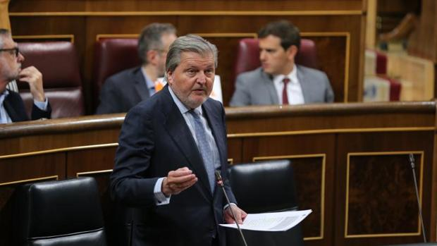 El ministro de Educación, Íñigo Méndez de Vigo, en el Congreso de los Diputados