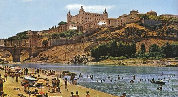 La playa de Safont, donde se bañaban los toledanos hasta que en 1972 se prohibió el baño