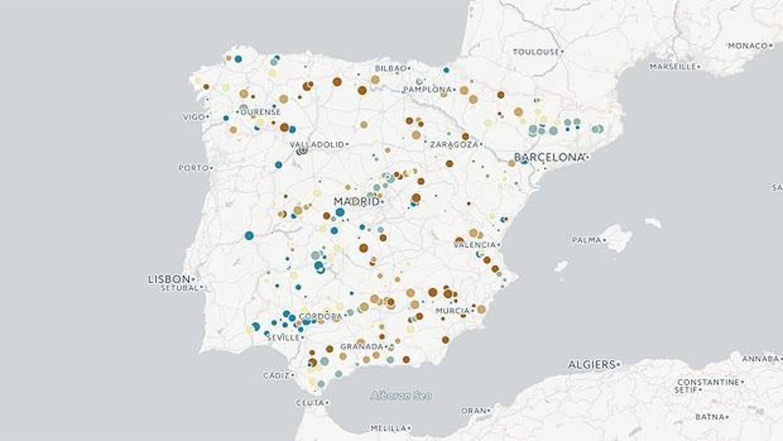 El Mapa De La Espana Seca