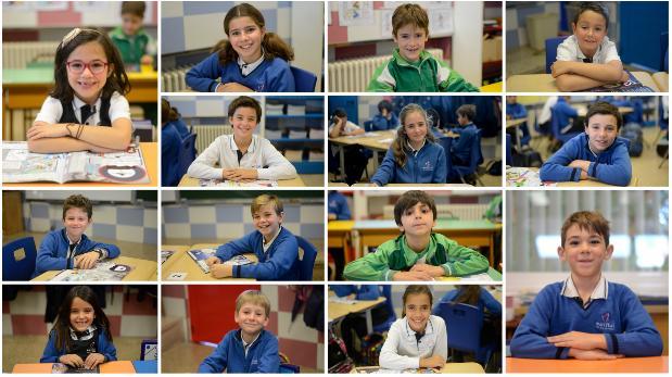 Alumnos de 2º y 5º de Primaria del colegio San José del Parque