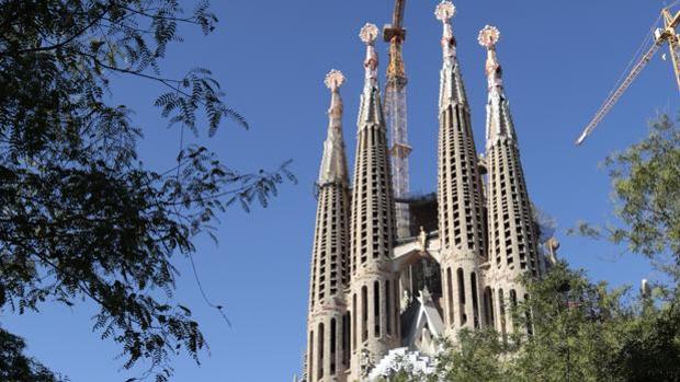 Fotografía de archivo de la Sagrada Familia de Barcelona
