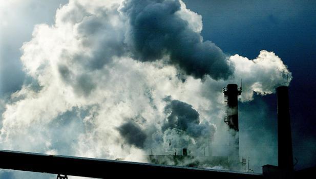 Imagen de la fábrica de papel de Durango