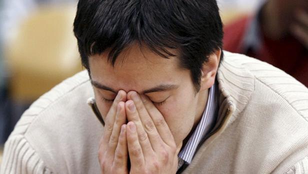 Diego Yllanes, en el momento en que el jurado popular le comunicó su condena. Era noviembre de 2009