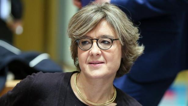 La ministra española de Agricultura, Pesca, Alimentación y Medio Ambiente, Isabel García Tejerina, asiste al Consejo de ministros de Agricultura y Pesca de la Unión Europea (UE),