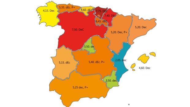 Mapa del índice DEC