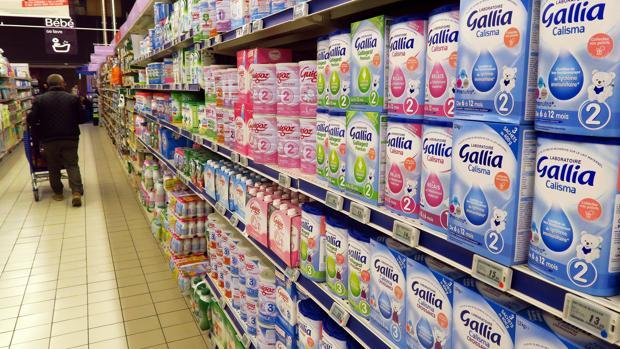 Productos lácteos de Lactalis que se siguen vendiendo en los supermercados de Francia