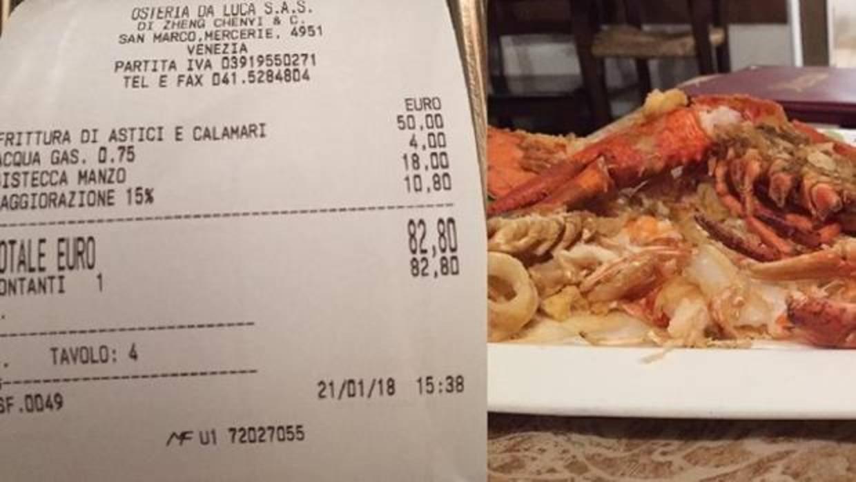 Les cobran 1.145 euros por cuatro filetes y un plato de pescado