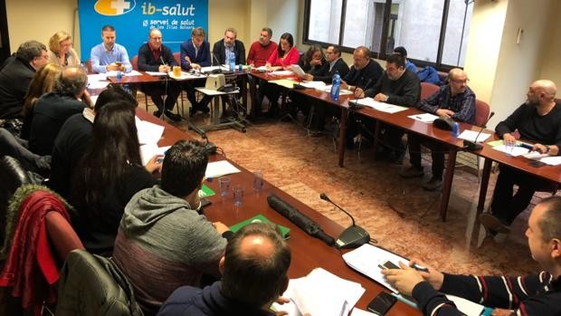 Imagen de la reunión de la Mesa Sectorial de Sanidad celebrada este viernes