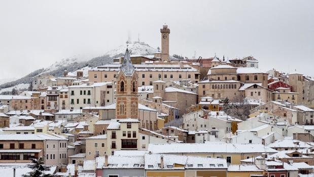 El pasado 5 de febrero, Cuenca y su casco antiguo amanecían así. Volverá a pasar mañana martes y miércoles según las previsiones