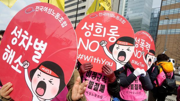 Mujeres de países tan distantes como Corea del Sur, Reino Unido o España salieron a las calles en una jornada reivindicativa sin precedents