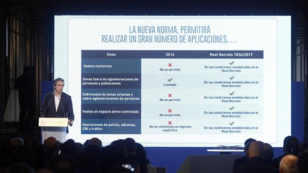 El ministro de Fomento, Íñigo de la Serna, durante la presentación del Plan Estratégico