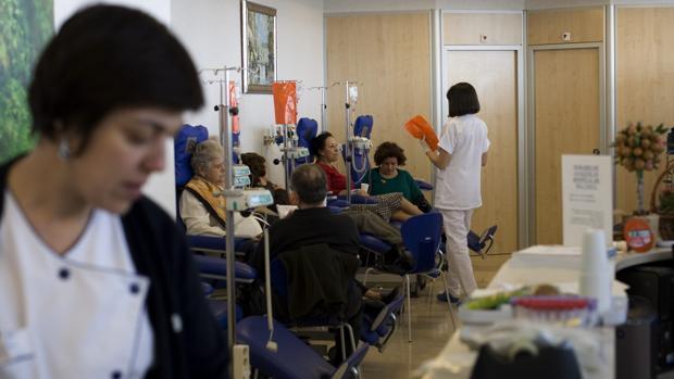 Sala de quimioterapia del Hospital Madrid Norte