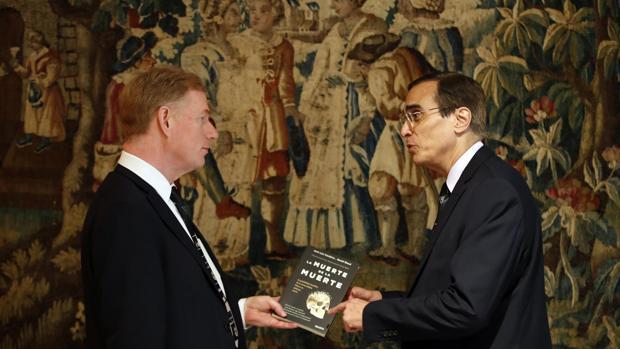 José Luis Cordeiro y David Wood durante la presentación de su nuevo libro «La muerte de la muerte»