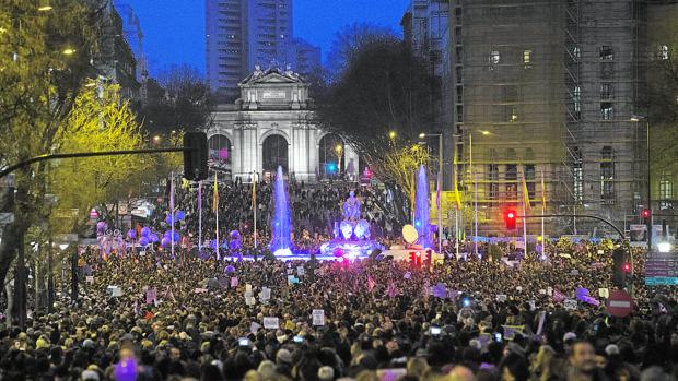 Manifestación por el Día de la Mujer, el pasado 8 de marzo, en Madrid