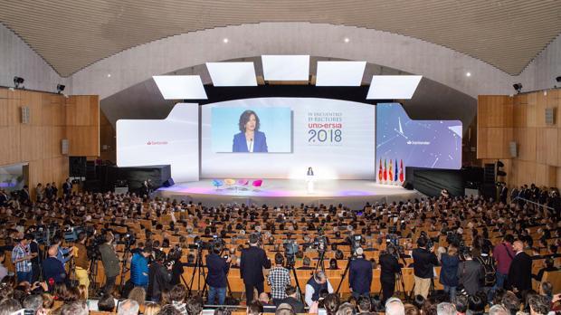 La inauguración del IV encuentro de rectores se celebró en el Auditorio del Palacio de Congresos de Salamanca