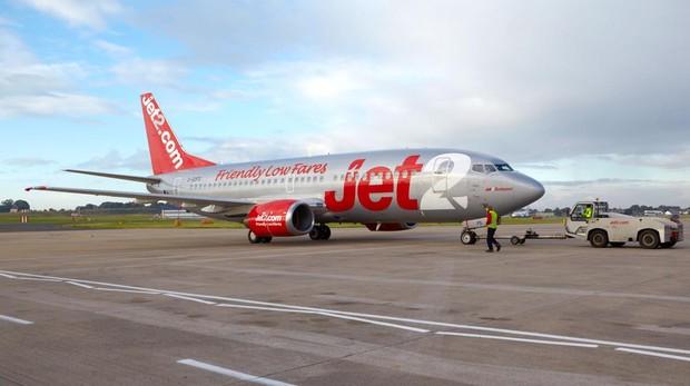 Imagen de un avión de la compañía Jet2