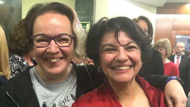 Silvia Buabent, junto a Soledad Murillo, en la toma de posesión de esta como secretaria de Estado de Igualdad