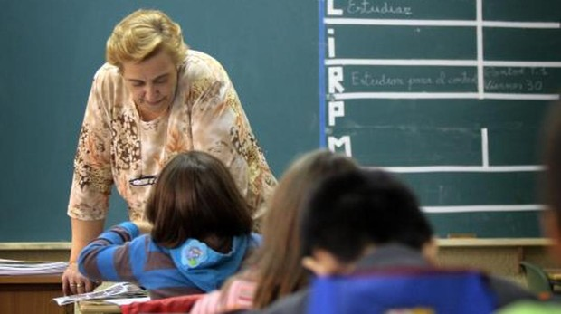 Clase de Religión de Tercero de Primaria en el colegio Rey Pastor de Logroño