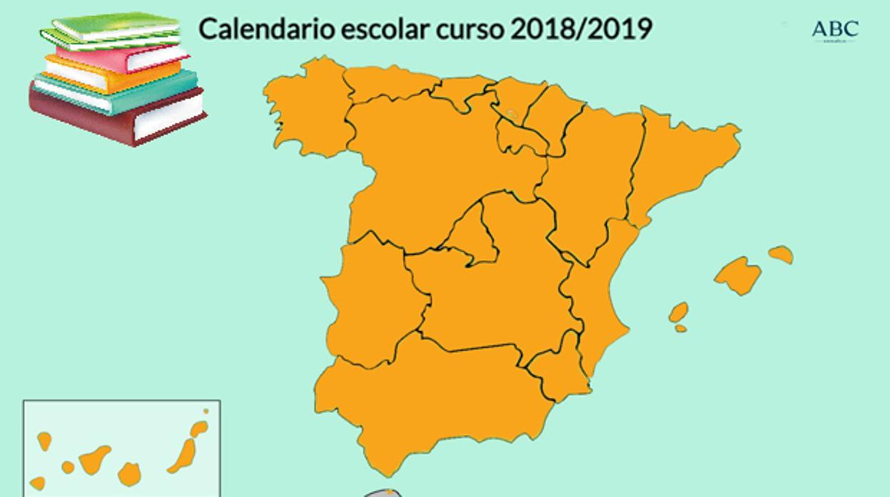 Calendario Escolar Asturias.Calendario Escolar 2018 2019 Cuando Comienza El Curso En Mi Comunidad