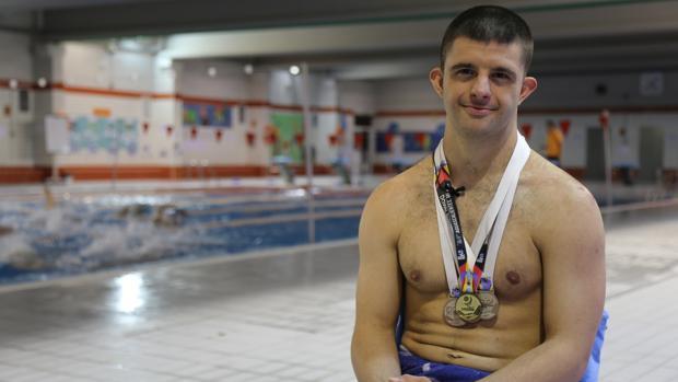 Carlos Hernández, campeón del mundo de natación