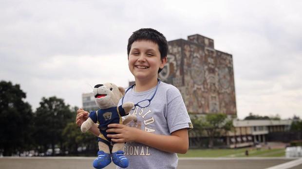 Niño de 12 años cursará licenciatura en Física Biomédica en la UNAM