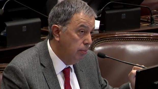 El senador argentino Rodolfo Urtubey, durante su intervención en el debate