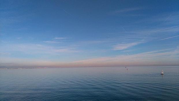 Imagen del Mar Mediterráneo tomada desde el puerto de Valencia
