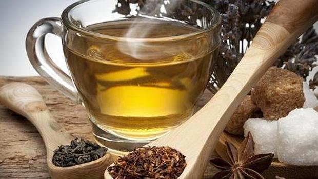 Imagen de archivo de té verde