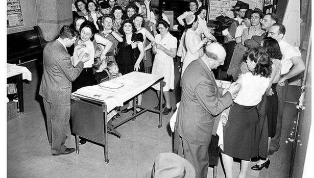 Año 1947, Nueva York: campaña de vacunación contra la viruela