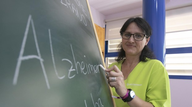 Rosa María Huertas, cuidadora en la Asociación de Alzhéimer