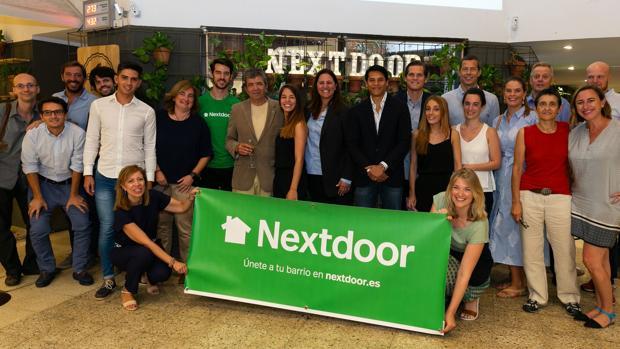 El equipo de la aplicación Nextdoor durante su presentación en Madrid