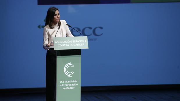 La Reina interviene en el acto de entrega de Ayudas a la Investigación en Cáncer de la Asociación Española Contra el Cáncer (AECC)