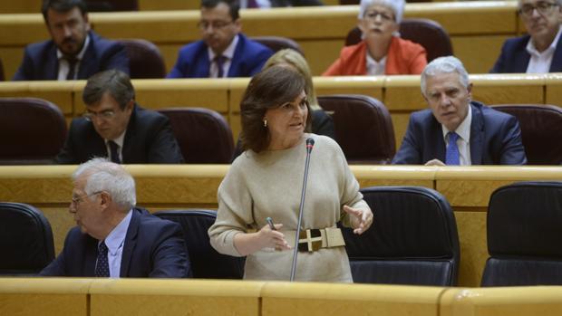 La vicepresidenta del Gobierno y ministra de Igualdad, Carmen Calvo, recientemente