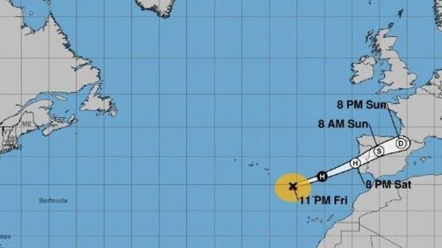 Cuando Leslie toque tierra posiblemente ya no sea un huracán, sino un potente ciclón