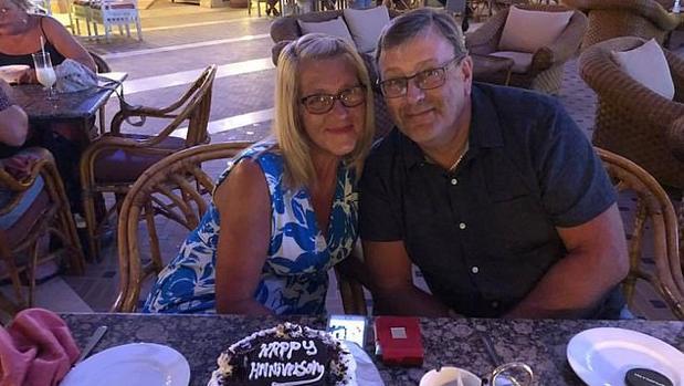 David y Lyndam durante sus vacaciones