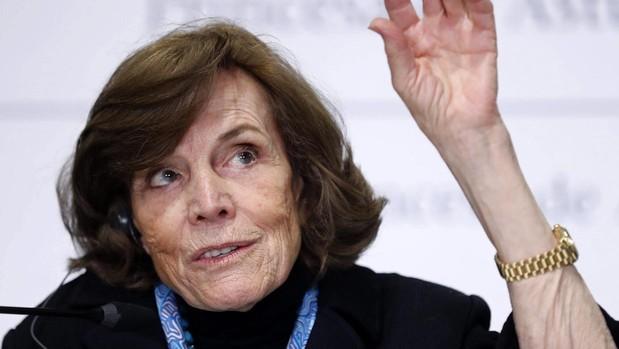La oceanógrafa Sylvia A. Earle, cocida como «la dama de las profundidades» y Premio Princesa de Asturias de la Concordia 2018, durante la rueda de prensa que ofreció en Oviedo esta semana