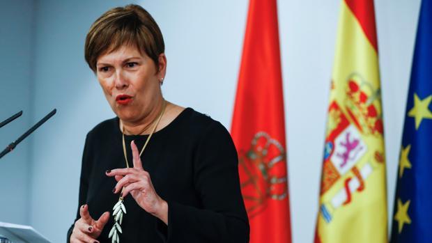 Barkos, durante la rueda de prensa que ofreció tras la reunión mantenida este miércoles con Pedro Sánchez en el Palacio de La Moncloa