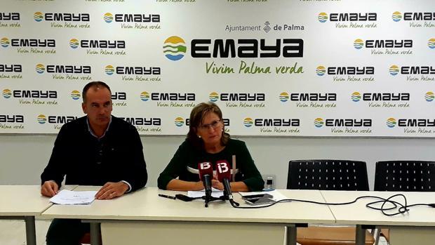 El jefe de Recursos Humanos de Emaya, Carlos Nadal, y la gerente de dicha empresa, Imma Mayol