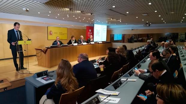 El ministro de Ciencia, Innovación y Universidades, Pedro Duque preside el acto de presentación del nuevo sexenio para reconocer la transferencia de conocimiento