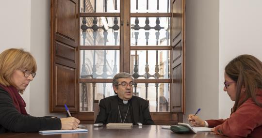 Luis Argüello, durante la entrevista con ABC