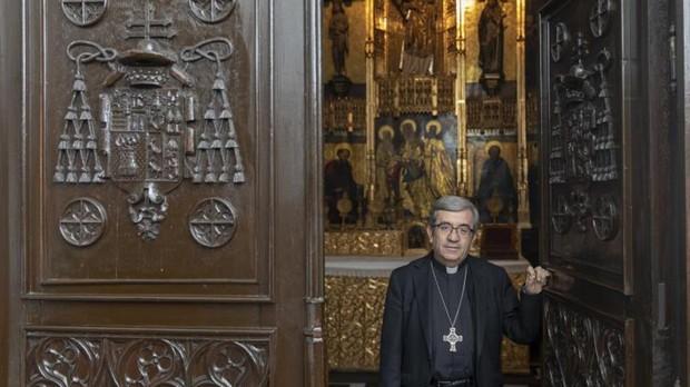 Luis Argüello en la capilla del Palacio Arzobispal de Valladolid