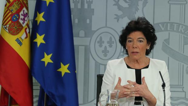 La portavoz del Gobierno, Isabel Celaá