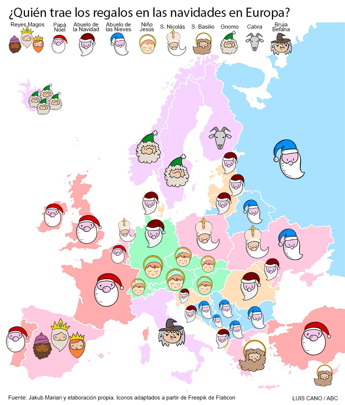Quien Trae Los Regalos En Las Navidades En Cada Pais De Europa