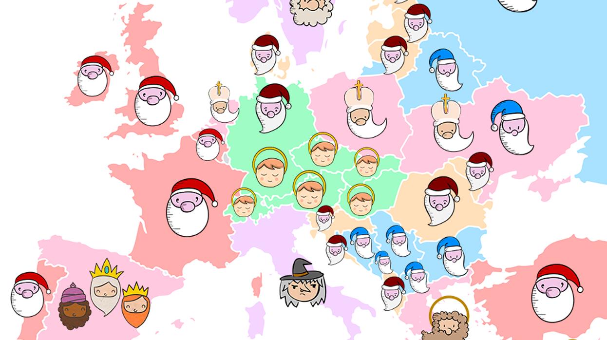 Fotos Papa Noel Reyes Magos.Quien Trae Los Regalos En Las Navidades En Cada Pais De Europa