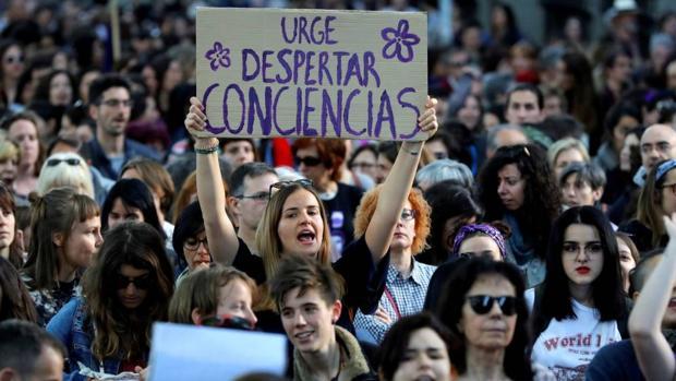Imagen de una manifestación en contra de la sentencia de La Manada