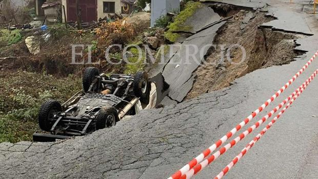Imagen exclusiva de El Comercio del accidente en Laviana