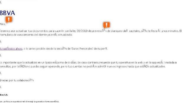 La Guardia Civil alerta de esta estafa que llegará a tu correo para robar tus datos y tu dinero Bbva-k0XE--620x349@abc