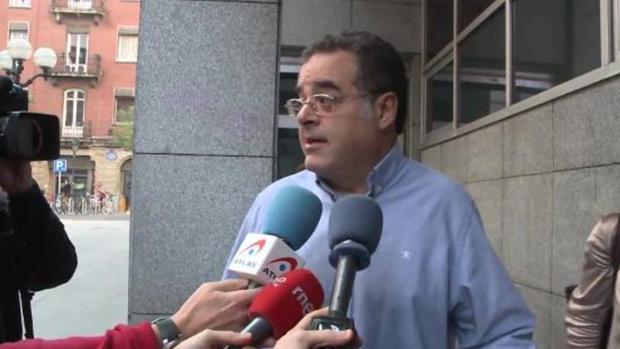 Juan Cuatrecasas durante el juicio por los abusos sufrido por su hijo en la Audiencia de Bizkaia